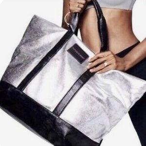 Victoria's Secret Metallic Silver Tote Bag